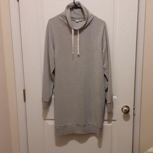 Gap Funnel Neck Pullover Sweatshirt Dress